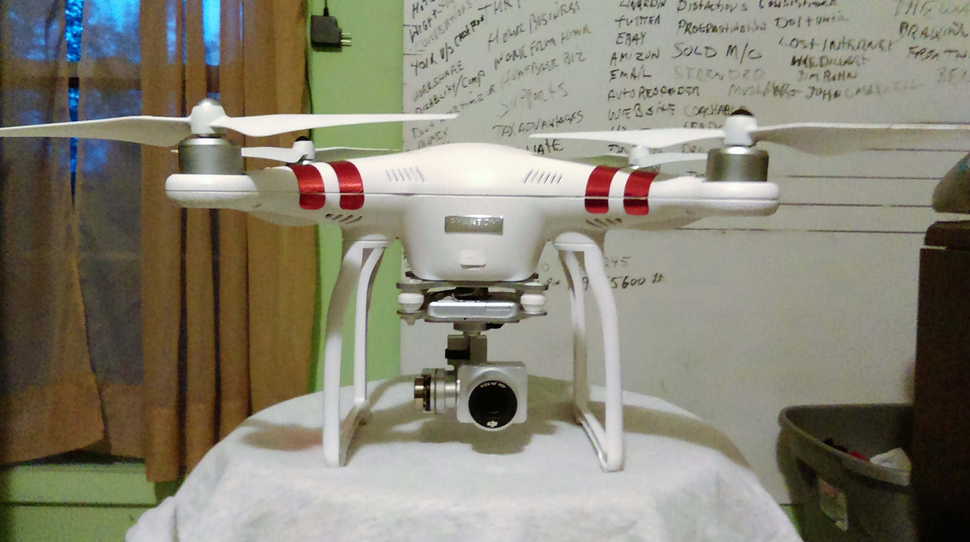 DJI Phantom 3 Crash post inspection