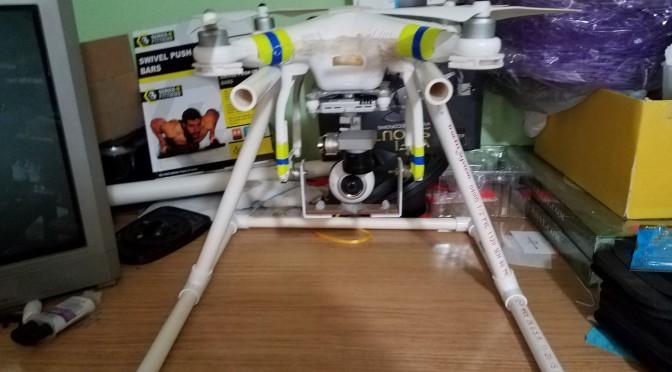 DJI Phantom 3 Pro Gear 360 Camera Platform Mod #4 and Final   Veiw From the 360 Camera 3D