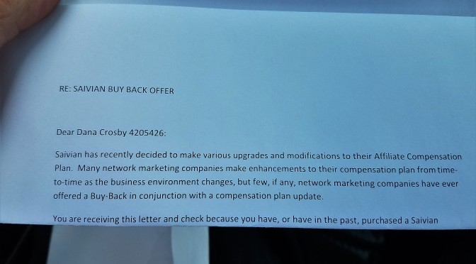 Beware of Saivian (MLM) The Buy Back